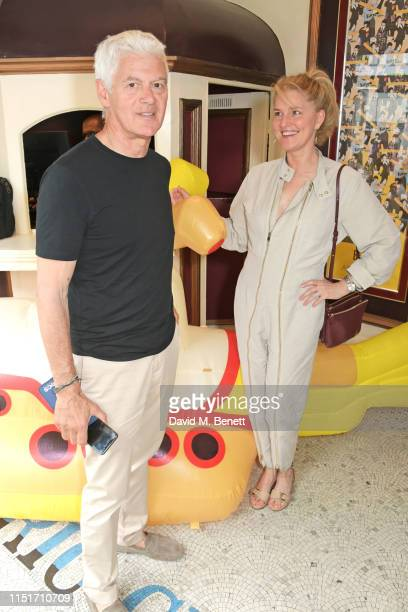 John Frieda and Avery Agnelli attend a private screening of Yellow Submarine hosted by Stella McCartney to celebrate the upcoming launch of the 'All...