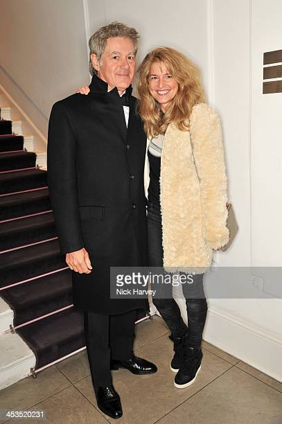 John Frieda and Avery Agnelli attend as the Christmas lights are switched on at Stella McCartney on December 4 2013 in London England