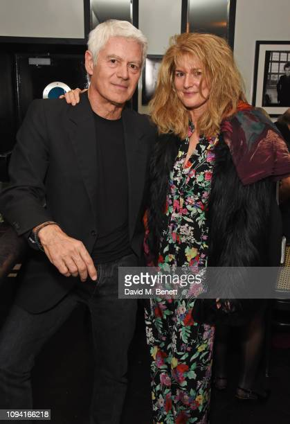 John Frieda and Avery Agnelli attend the launch of John Swannell's photography exhibition at Le Caprice on February 5 2019 in London England
