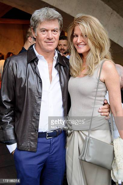 John Frieda and Avery Agnelli attend the private view of 'Miles Aldridge I Only Want You To Love Me' at Embankment Gallery on July 9 2013 in London...