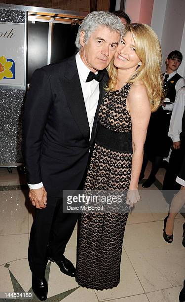 John Frieda and Avery Agnelli attends the Marie Curie Cancer Fundraiser hosted by Heather Kerzner at Claridge's Hotel on May 15 2012 in London England