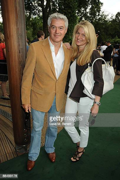 John Frieda and Avery Agnelli pose as The McCartney Family Launches 'Meat Free Monday' at Inn The Park on June 15 2009 in London England