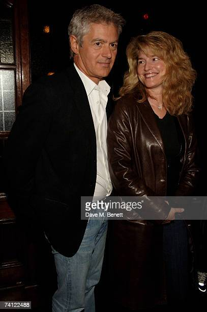 John Frieda and Frances Avery Agnelli arrive at a private gig to be performed by Prince at KOKO Club on May 10 2007 in London England