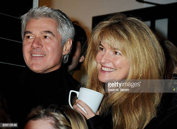 John Frieda and Frances Avery Agnelli attend a private party to see the Christmas lights switch on at the Stella McCartney store on November 24 2008...