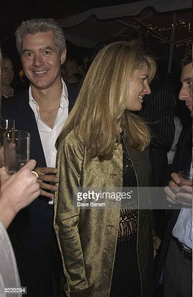 John Frieda and Frances Avery Agnelli attend the 2003 Serpentine Gallery Summer Party in Hyde Park on July 3 2003 in London