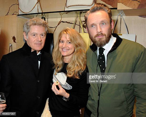 John Frieda Avery Agnelli and Alasdhair Willis attend the Stella McCartney Christmas Lights Switch On at the Stella McCartney Bruton Street Store on...