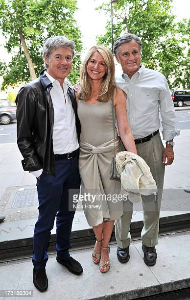 John Frieda Avery Agnelli and Ralph Howe attend the private view of 'Miles Aldridge I Only Want You To Love Me' at Embankment Gallery on July 9 2013...