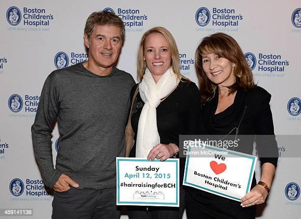John Frieda HAIRraising cofounder Pauline Roberston Nicholas Michaels Spa and Gail Federici CEO Federici Brands HAIRraising cofounder attend the...