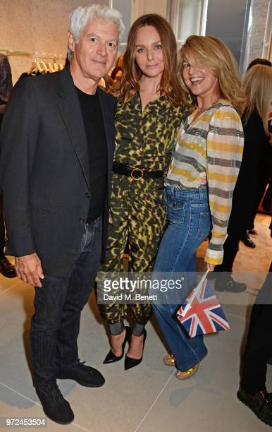 John Frieda Stella McCartney and Avery Agnelli attend the launch of the Stella McCartney Global flagship store on Old Bond Street on June 12 2018 in...