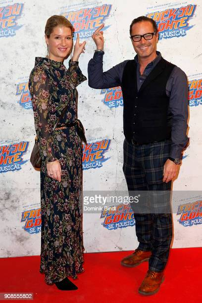 John Friedmann and his girlfriend Tini Fuchs attend the 'Fack ju Goehte Se Mjusicael' Musical Premiere at Werk 7 Theater on January 21 2018 in Munich...