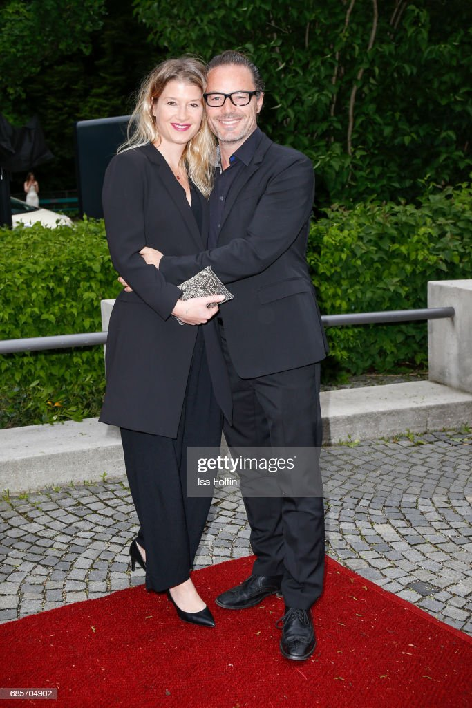 John Friedmann and his partner Tini Fuchs attend the Bayerischer Fernsehpreis 2017 at Prinzregententheater on May 19, 2017 in Munich, Germany.