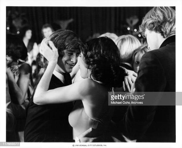 John Friedrich embracing Didi Conn in a scene from the film 'Almost Summer' 1978