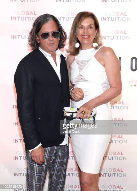 John Frierson President of Fred Segal and writer Antonella Boralevi attend the Official Launch Reception For Fashion Brand GLOBAL INTUITION at Fred...