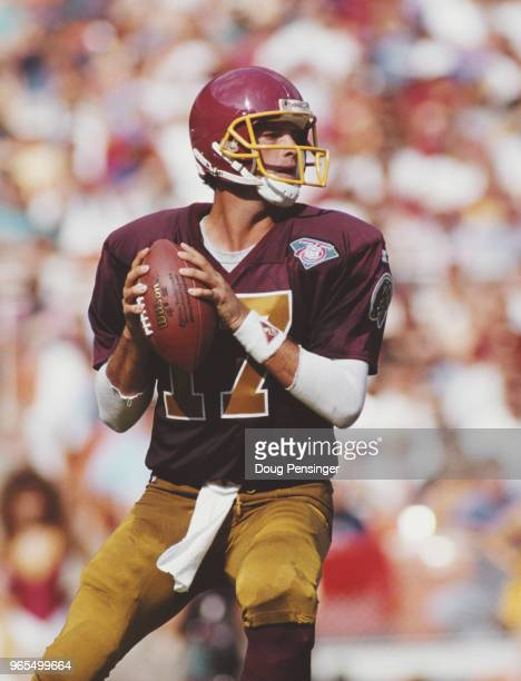 John Friesz Quarterback for the Washington Redskins during the National Football Conference East game against the Atlanta Falcons on 25 September...