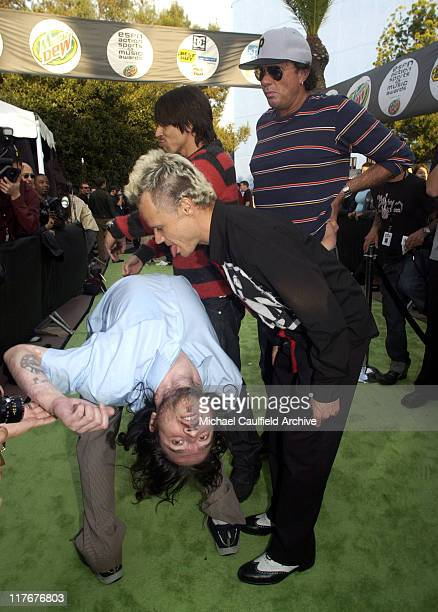 John Frusciante and Flea of Red Hot Chili Peppers during ESPN Action Sports and Music Awards Arrivals at The Universal Amphitheater in Universal City...