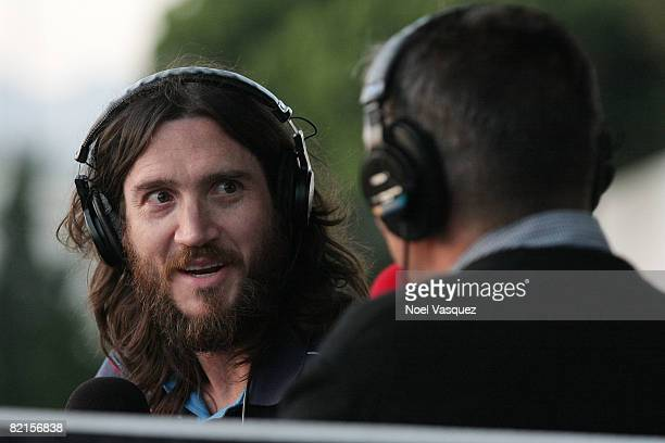 John Frusciante attends the Tribute To Johnny Ramone at the Forever Hollywood Cemetery on August 1 2008 in Los Angeles California