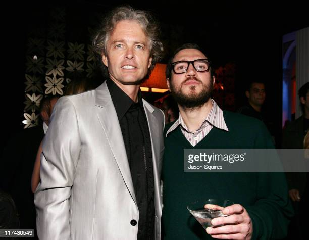 John Frusciante of Red Hot Chili Peppers and Tom Whalley Chairman and CEO of Warner Bros Records