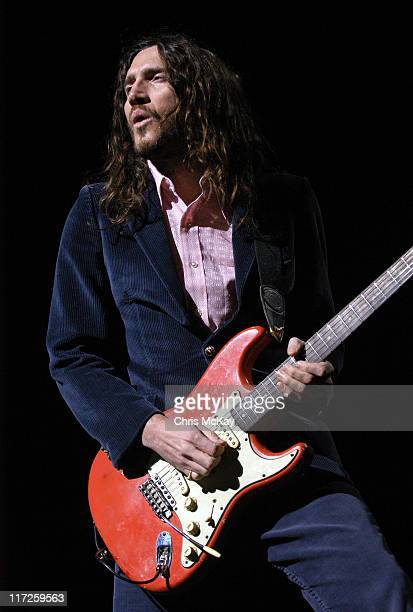 John Frusciante of Red Hot Chili Peppers during Red Hot Chili Peppers at The Arena at Gwinnett October 26 2006 at The Arena At Gwinnett in Duluth...