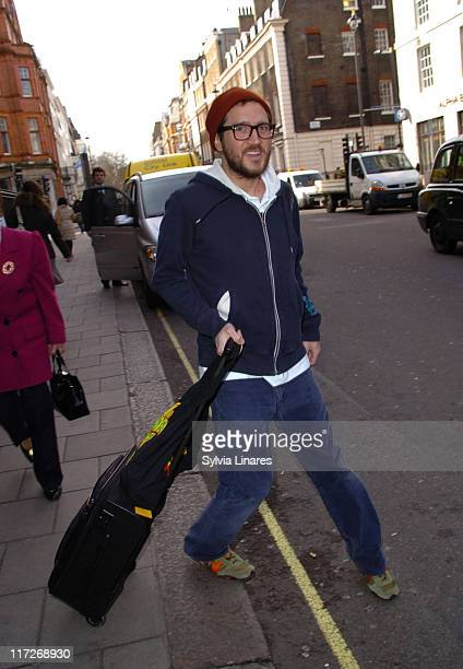John Frusciante of Red Hot Chili Peppers during Red Hot Chili Peppers Sighting at Claridge's Hotel February 15 2007 at Claridge's Hotel in London...