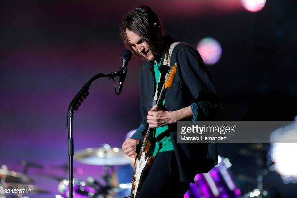 John Frusciante of Red Hot Chili Peppers performs during the second day of Lollapalooza Chile 2018 at Parque O'Higgins on March 17, 2018 in Santiago,...