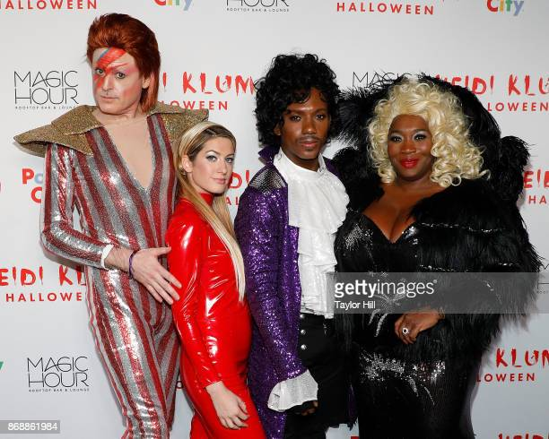 John Fugelsang Elizabeth Wagmeister Carlos Greer and Bevy Smith attend Heidi Klum's 18th Annual Halloween Party at Magic Hour Rooftop Bar Lounge on...
