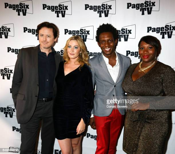 John Fugelsang Elizabeth Wagmeister Carlos Greer and Bevy Smith attend the Page Six TV Launch Party on September 13 2017 in New York City