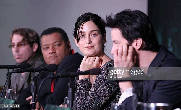 John Gaeta Laurence Fishburne CarrieAnne Moss Keanu Reeves
