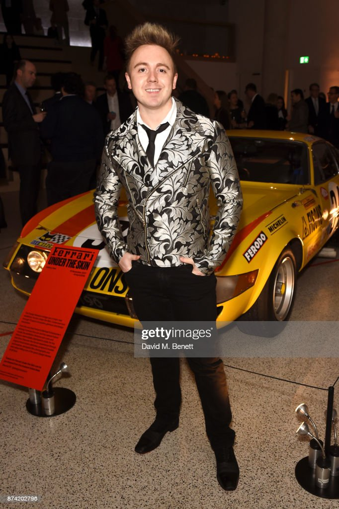 John Galea attends a private view of the 'Ferrari: Under The Skin' exhibition hosted by Deyan Sudjic and Alice Black, Directors of the Design Museum on November 14, 2017 in London, England.