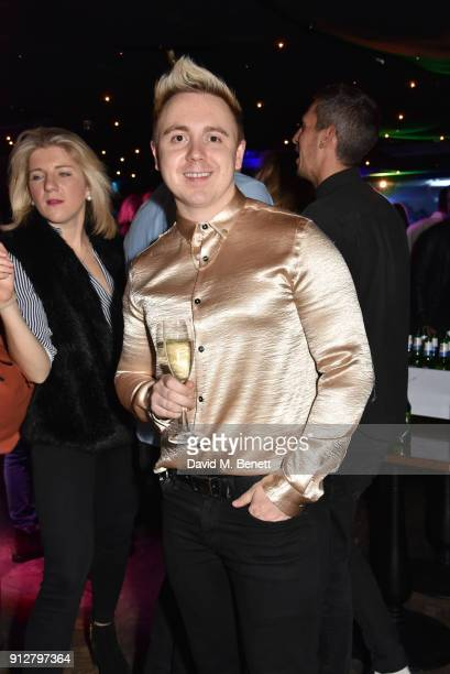 John Galea attends Bunga Bunga Covent Garden's 1st birthday party on January 31 2018 in London England