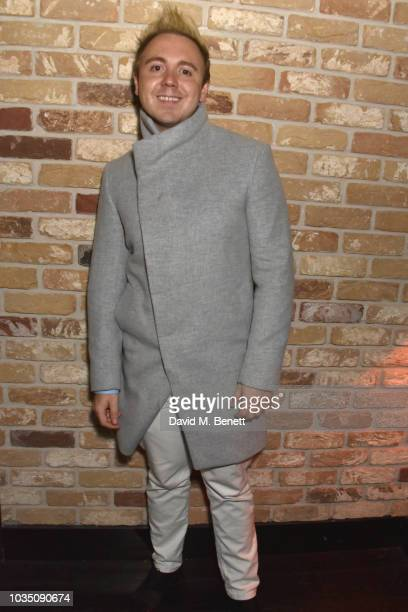 John Galea attends the Edeline Lee X Glass Magazine party during London Fashion Week September 2018 at Kadie's Cocktail Bar Club on September 17 2018...
