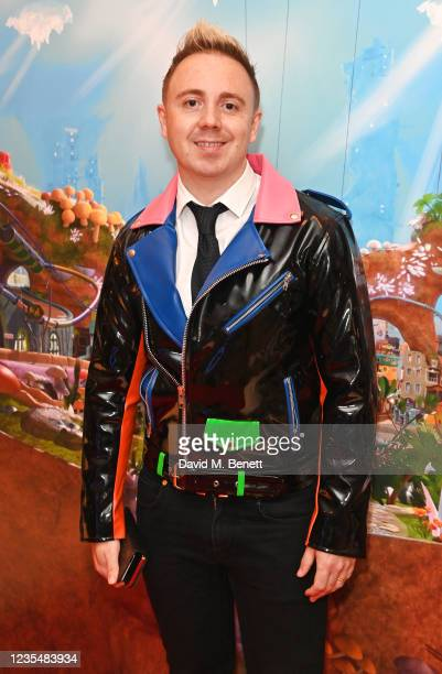"""John Galea attends the red carpet premiere of new animated children's series """"Moley"""" at Odeon Luxe Leicester Square on September 25, 2021 in London,..."""