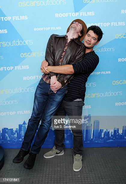 John Gallagher and Destin Cretton attends AMPAS And Rooftop Films Special Screening Of 'Short Term 12' at Old American Can Factory on July 20 2013 in...