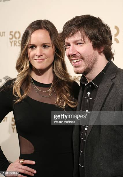 John Gallagher Jr and guest attend the Roundabout Theatre Company's 50th Anniversary Gala at The WaldorfAstoria on February 29 2016 in New York City