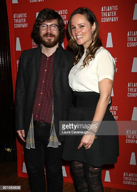 John Gallagher Jr and Libby Winters attend John Gallagher Jr 'These Paper Bullets' Opening Night After Party at The Fillmore Room on December 15 2015...