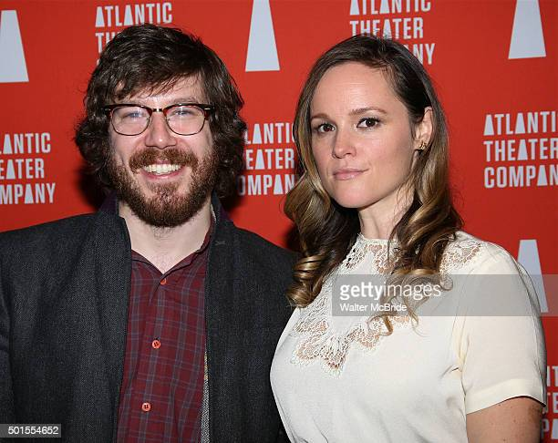 John Gallagher Jr and Libby Winters attend the Opening Night After Party for Atlantic Theatre Company production of 'These Paper Bullets' at the...
