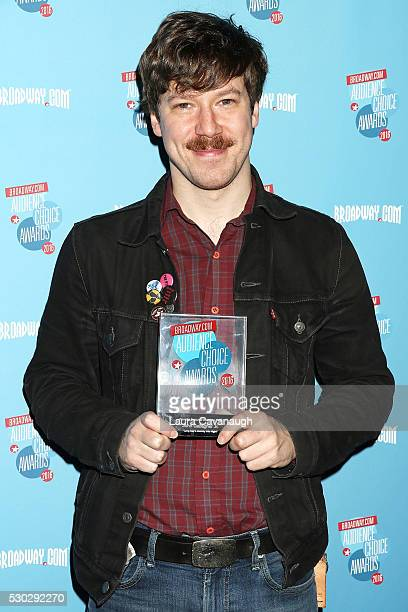 John Gallagher Jr attends 2016 Broadwaycom Audience Choice Awards Reception at 48 Lounge on May 10 2016 in New York City