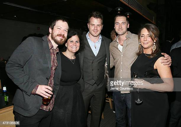John Gallagher Jr Rhonda Price actor Rob Kazinsky actor Ryan Eggold and actress Talia Balsam attend the 2015 Gersh Upfronts Party at Asellina at the...