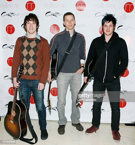 John Gallagher Stark Sands and Michael Esper attend 'American Idiot' Gives Back at the Carlton Hotel on December 16 2010 in New York City