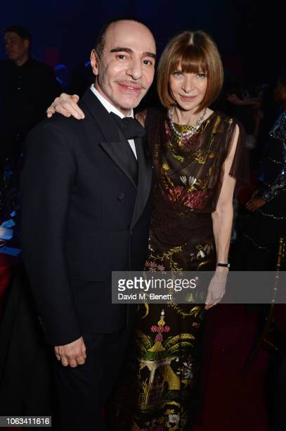 John Galliano and Dame Anna Wintour attend The 64th Evening Standard Theatre Awards after party at the Theatre Royal Drury Lane on November 18 2018...