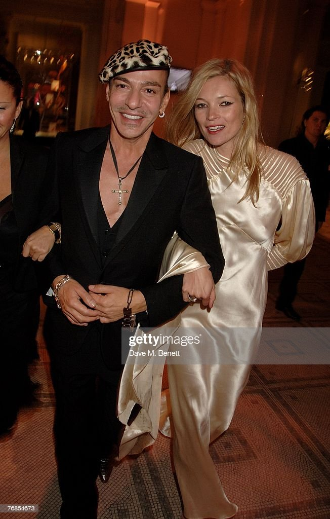 John Galliano and Kate Moss attend The Golden Age Of Couture VIP Gala, at the Victoria & Albert Museum on September 18, 2007 in London, England.