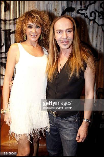 John Galliano and Lady Giannina Faccio at John Galliano Men Spring Summer 2009 Fashion Show