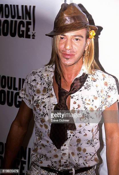 John Galliano at Screening of Moulin Rouge New York April 17 2001