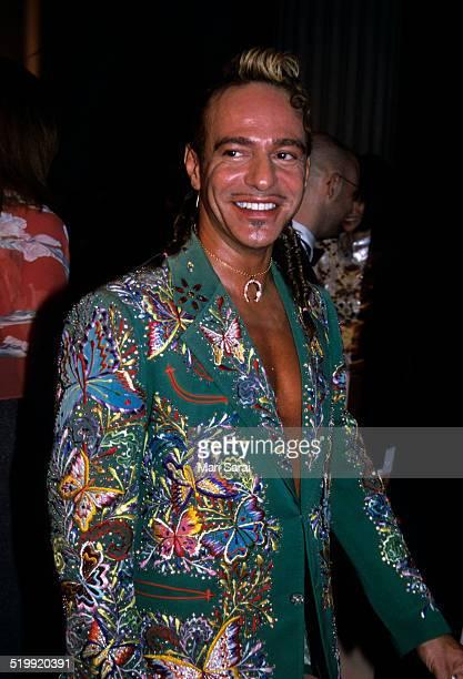 John Galliano at the Metropolitan Museum's Costume Institute gala exhibition, New York, New York, April 23, 2001.