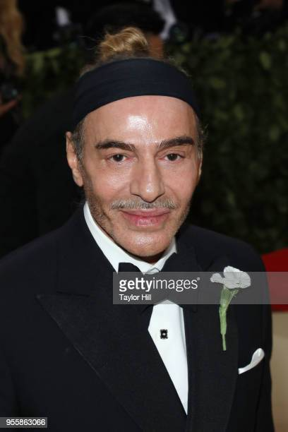 John Galliano attends Heavenly Bodies Fashion the Catholic Imagination the 2018 Costume Institute Benefit at Metropolitan Museum of Art on May 7 2018...