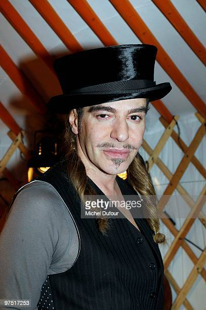 John Galliano attends the John Galliano Ready to Wear show during Paris Womenswear Fashion Week Fall/Winter 2011 at Halle Freyssinet on March 7 2010...