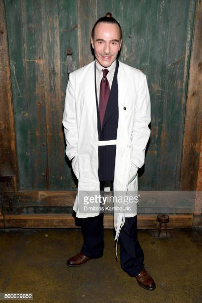 John Galliano attends Vogue's Forces of Fashion Conference at Milk Studios on October 12, 2017 in New York City.