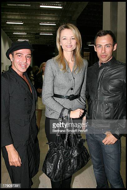 John Galliano Delphine Arnault and Alexis Roche at Inauguration Of The Exhibition 'Tyen 30 Years of Creation' At Palais De Tokyo