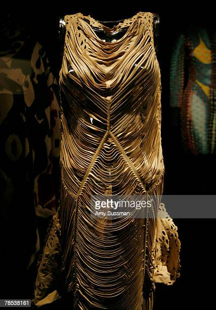 John Galliano dress is displayed at the Blogmode addressing fashion exhibit at the Metropolitan Museum of Art's Costume Institute on December 17 2007...