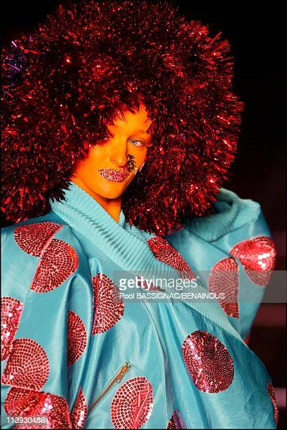 John Galliano fashion show for the Spring-Summer 2003 Ready-to-wear collections In Paris, France On October 06, 2002.