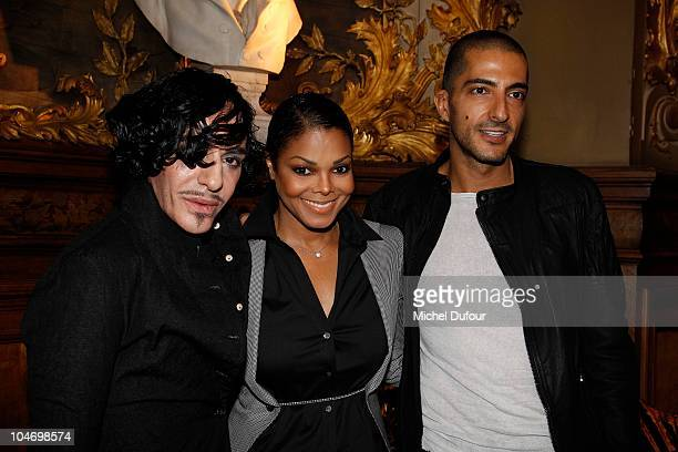 John Galliano Janet Jackson and Wissam Al Mana attend the John Galliano Ready to Wear Spring/Summer 2011 show during Paris Fashion Week at Opera...